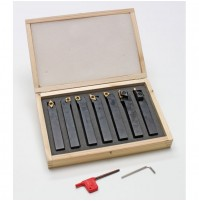 DEMA Sústružnícke nože na kov 16 mm, 7-dielna sada