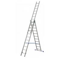 Trojdielny univerzálny hliníkový rebrík Elkop - VHR Trend 3x7