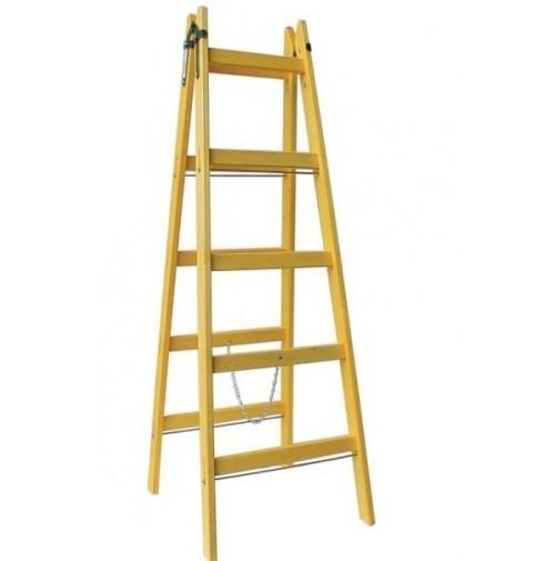 Rebrík Elkop drevený DDR 2x6