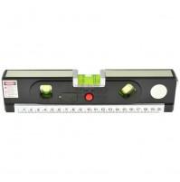 GEKO Laserová vodováha 245 mm, podsvietená, 3 libely, zvinovací meter 1,5 m