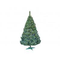 Umelý vianočný stromček BOROVICA s bielymi koncami 220cm