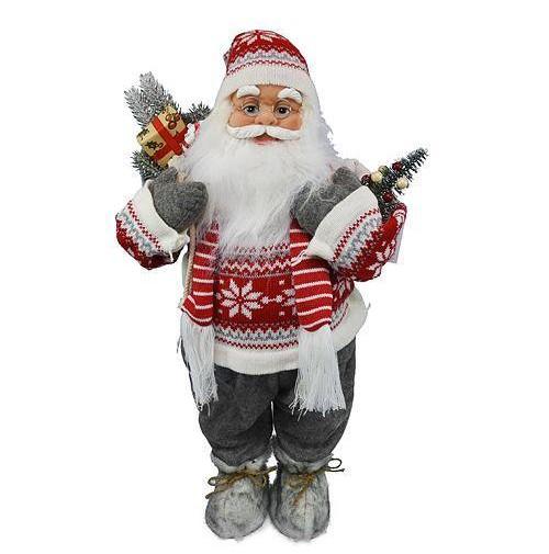 Dekoracia XmC615, Santa, so šálom, 045 cm