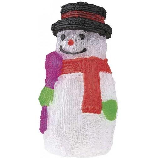 16 LED vianočný snehuliak IP44 studená biela