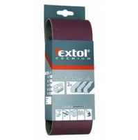EXTOL Brúsny pás, korund, 533x76mm, P100 3ks
