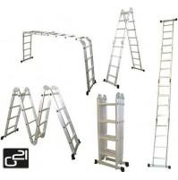 Hliníkové rebríky multifunkčné G21 GA-SZ-4x4-4.6M