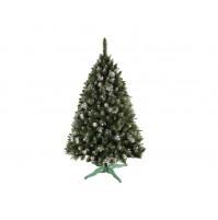 Vianočný stromček SOSNA VERONA so šiškami a striebornými koncami 180 cm