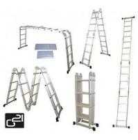 Hliníkový rebrík G21 GA-SZ-4x3-3,7M multifunkčný + podlážka