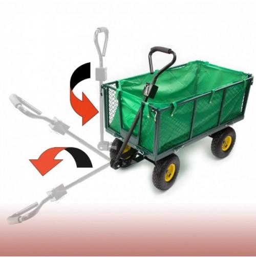 DEMA Ručný záhradný vozík 160 L Green