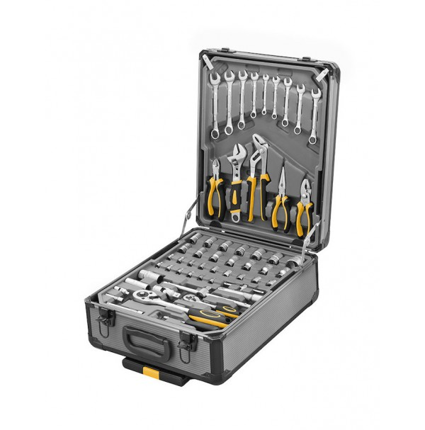 Sada náradia v kufríku na kolieskách, 245-dielna, PROTECO